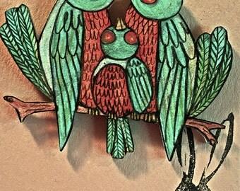 Hand Drawn Bluebird Magnet