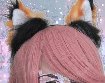 Orange Fox- Fox ears on headband