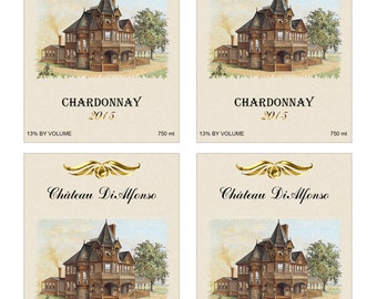 Digital Printable Personalized Wine Label - Sticker - Gift Label