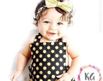 Baby Girl Headbands - Baby Girl - Baby Headband - Baby Girl - Baby Bow - Newborn Headband - Infant Headband - Gold Headband - Headbands