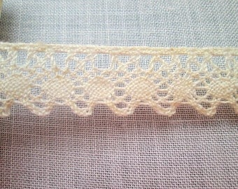 Vintage Lace Trim Edging - 106nch - 2.69m x 2cm - Cream/Ivory - Scalloped