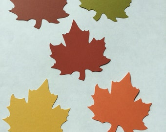 25 die cut paper leaves - paper fall wedding leaves -  die cut paper maple leaves - die cut paper fall leaves - fall wedding supplies