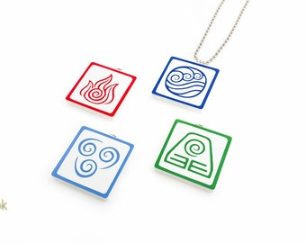 Set of 4 Avatar Bending Necklaces