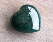 Moss Agate Large Puffy Heart # 43980