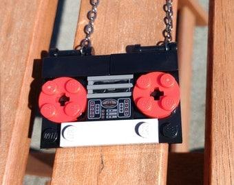 Lego Cassette Tape Necklace