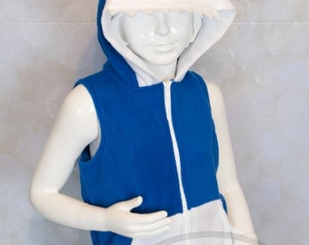 KIDS Shark Hoodie, Costume, Vest, Jacket, Hand-made, Cosplay