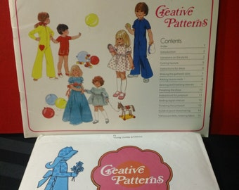 Young Outfits ~ Creative Patterns Vintage 1975 Softcover Instructional Sewing Booklet and Uncut Pattern