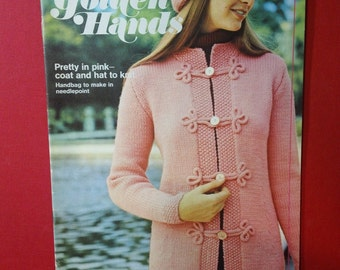 Golden Hands ~ Part 71 Volume 5  ~ Vintage 1972 Sewing Stitchery Magazine Back Issue