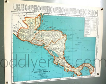 1939 Central America Atlas Map