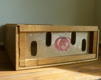 Tomato Crate,  Storage Box,  Rustic Wood Box