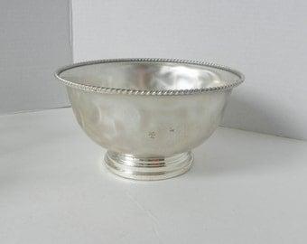 Silverplate Round Pedastal Bowl W Germany  Pat 1003