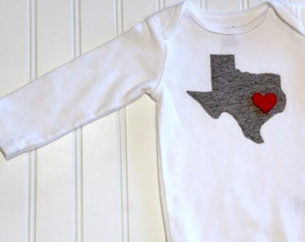 Choose Your State, Texas Baby Bodysuit, Texas Love Bodysuit, State Love Shirt