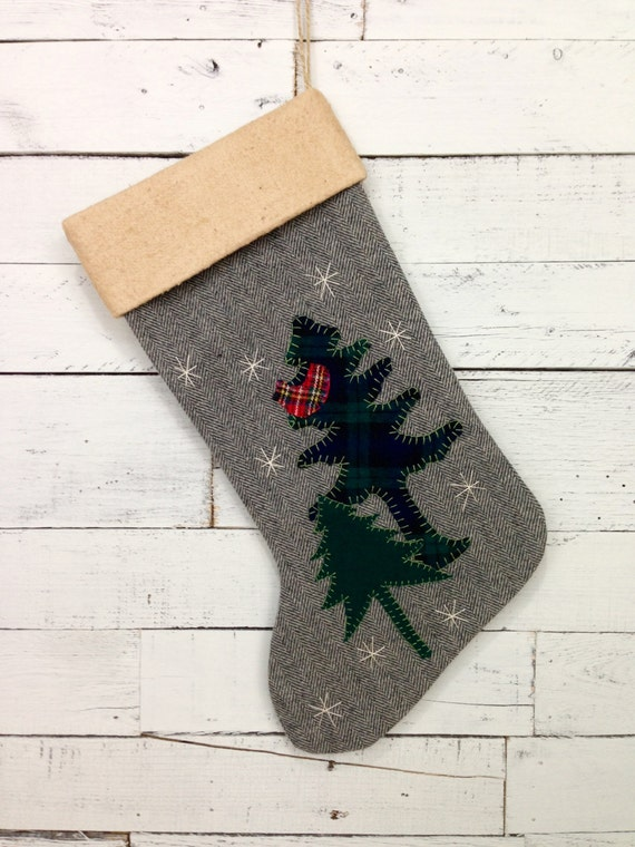 Personalized Rustic Christmas Stocking,Rustic Christmas Stocking, Family Stocking, Cabin Christmas,Woodland Christmas,Rustic Christmas Decor