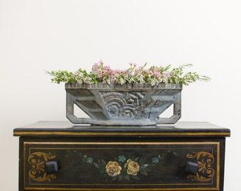 Antique Arts and Crafts Cast Iron Planter Urn Vase - 1800's