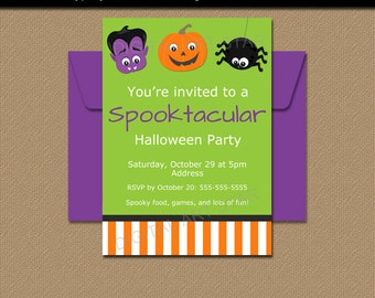 kids halloween invitation printable kids halloween party invite digital download halloween invitation template