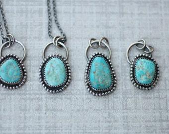 Cripple Creek Turquoise Pendant, Boho Necklace, Southwestern Pendant
