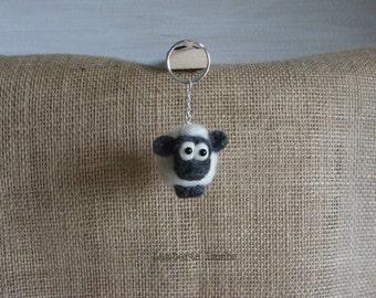 Needle Felted Sheep Hanging Ornament , sheep Handbag charm, sheep handing Christmas ornament.