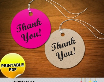 Round Thank You Tags - Printable PDF