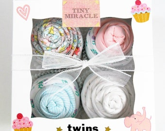 Twin Girl Baby Gift 12 piece set Baby gift for Twin Girls