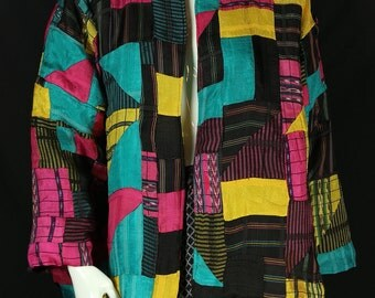 Gypsy jacket Hippie boho clothing Patchwork jacket Bohemian clothes Festival colorful jacket Ethnic coat Rustic tattered chic clothing