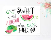 Watercolor Watermelon Customized Party Sign