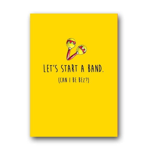 Funny birthday card for best friend Lets start a band – Funny Musical Birthday Cards