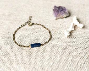 Simple Minimalistic Bracelet - Sodalite Column