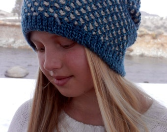 Crochet Hat Pattern - Reversable Honeycomb Hat Pattern- Instant Download