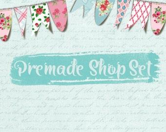 Premade Etsy Shop Set - Design 110