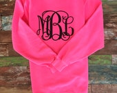 Monogrammed Sweatshirt, Monogram Sweatshirt, Monogram Pullover, Monogram sweater, Glitter Monogram, Matching Mother Daughter Sweatshirts