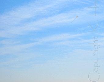 Photograph - Flying a Kite - Beach - 10x7.75-