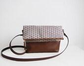 Geometric Crossbody Bag, Fold over, Crossbody Purse, Geometry, Clutch purse, Geometric pattern