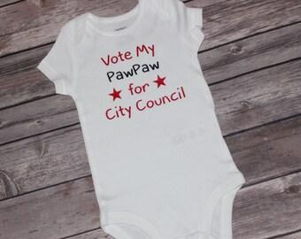 Vote For Shirt, Political Shirt, Republican Baby, Baby Democrat, Design Your Own Onesie, Future President, Create Your Own Shirt, Politics