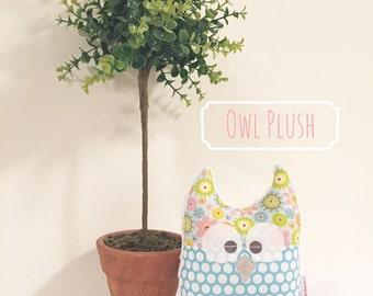 Owl Pillow, Owl Plush, Nursery Decor, Owl Stuffed Animal, Woodland Animals