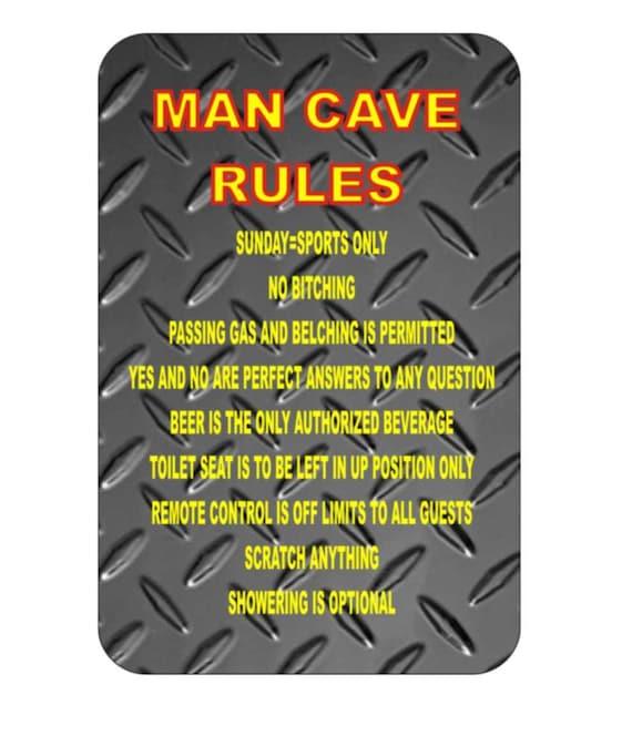 funny metal sign, metal sign, shop sign, garage sign, cave man sign, yard sign, indoor/outdoor sign, custom sign, funny sign