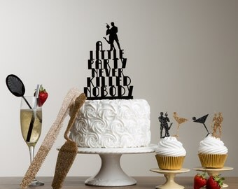 The Great Gatsby Cake Topper Themed Party Table Decorations Set