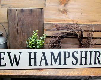 Wooden Sign, New Hampshire, wood state sign, State Of NH, Wood Sign Saying, Made In New Hampshire Sign, NH Decor