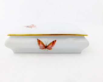 Chamart Limoges France Trinket Box, Jewelry Box, Butterfly Box