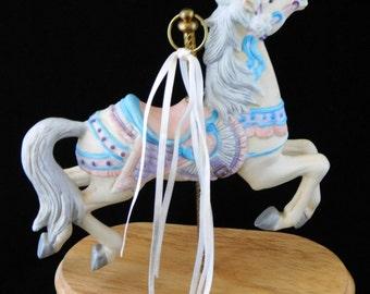 "Horse, Carousel Musical Horse, ""Love Story"" Music, Music Box"