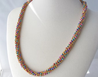Mardi Gras Russian Spiral Necklace with Heart Toggle Clasp