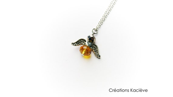 Little angel necklace,angel pendant,angel jewelry,angel,mother gift,angel love,amber necklace,amber jewelry,memory,love,little necklace
