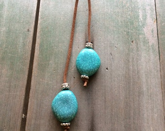 Two Stone Necklace/Southwestern/Tribal/Aztec/Country Western