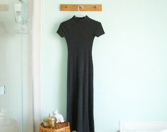 Vintage soft maxi gray dress - small
