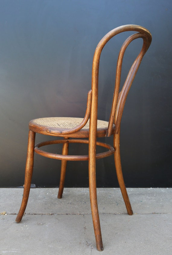 Antique Vtg Rare Thonet Bentwood Cane Wood Dining Chair 1888
