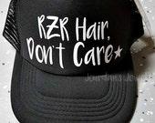 RZR Hair Don't Care Trucker Hat, Black Trucker Hat, Trucker Hat, Razor Hair, Rzr Ride, 1000 RZR, Yamaha RZR, Polaris Rzr, Rzr Hat, Outdoor