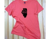 Illinois State Native T-Shirt, Light Weight finely Crafted Crew Neck T-shirt, IL Native, State Shirt,