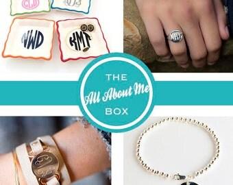 ME Box - All About Me Monogram Box - Monogram Everything Box