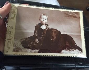 Sylish Kid with Dog
