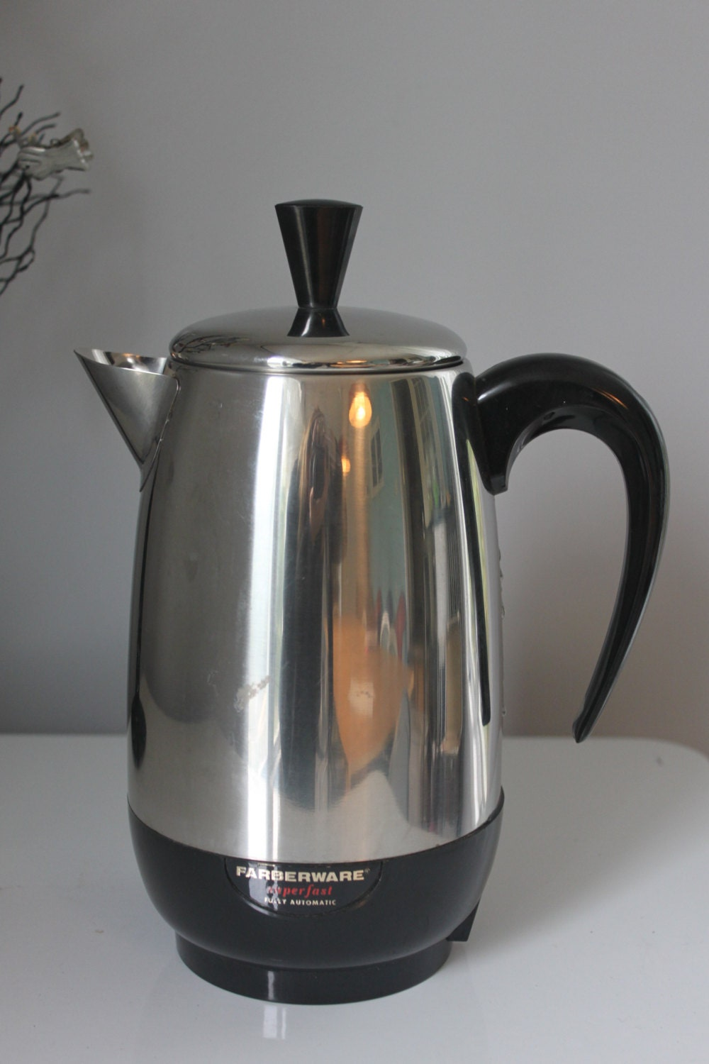 Farberware Coffee Maker Cleaning : Super clean-Vintage Farberware Superfast Chrome Percolator , Electric, 8 cups, Made in USA ...
