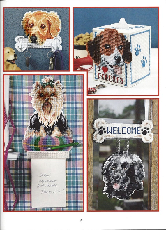 Dogs We Adore Plastic Canvas Pattern Book Leisure Arts